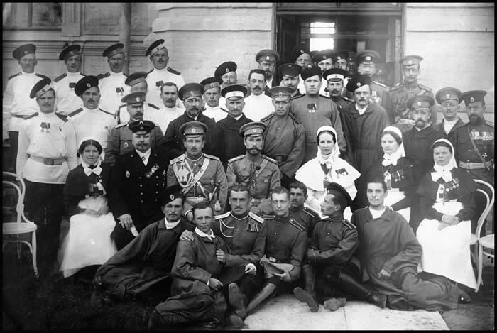 The Czar Photographed with a Nurse at a Petrograd Hospital, courtesy of Mirrorpix